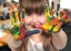girl-with-painted-hands-350