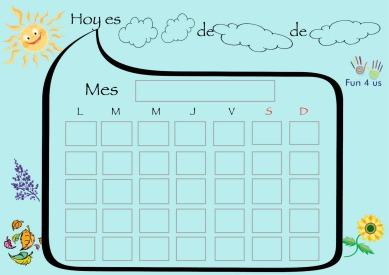 Calendario Para Kinder.Calendario Del Tiempo Montessori Fun4us