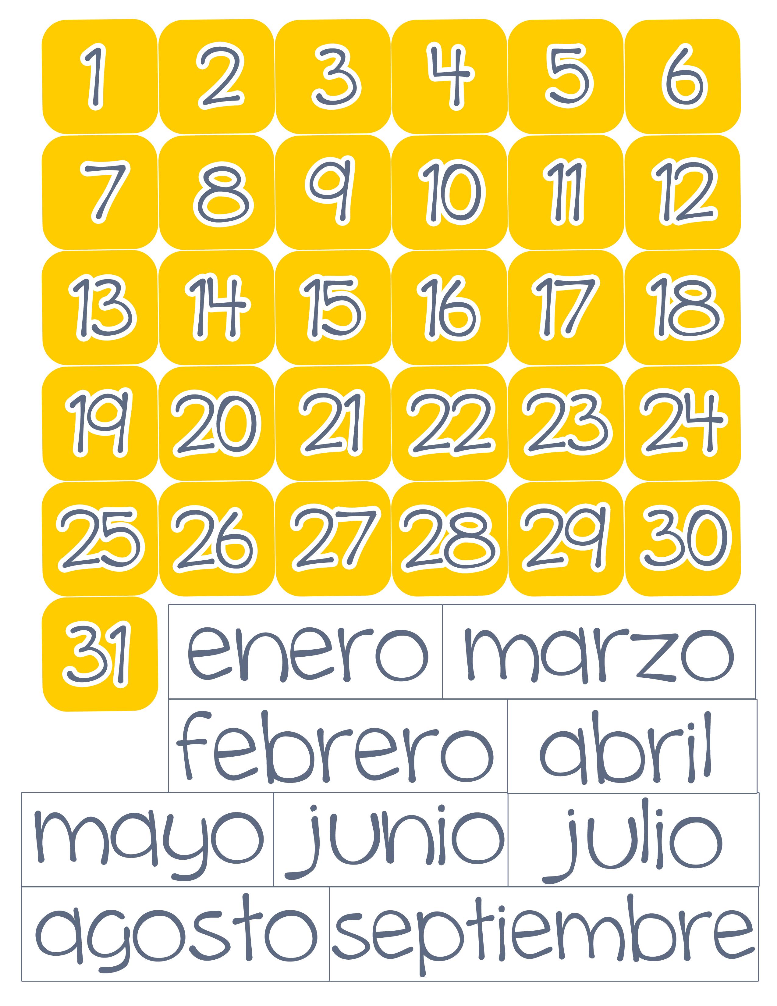 calendario del tiempo  montessori   u2013 fun4us