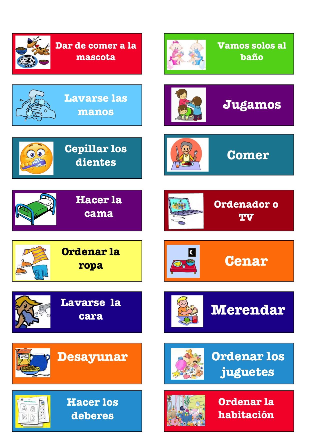 Calendario Para Kinder.Calendario De Rutinas Fun4us